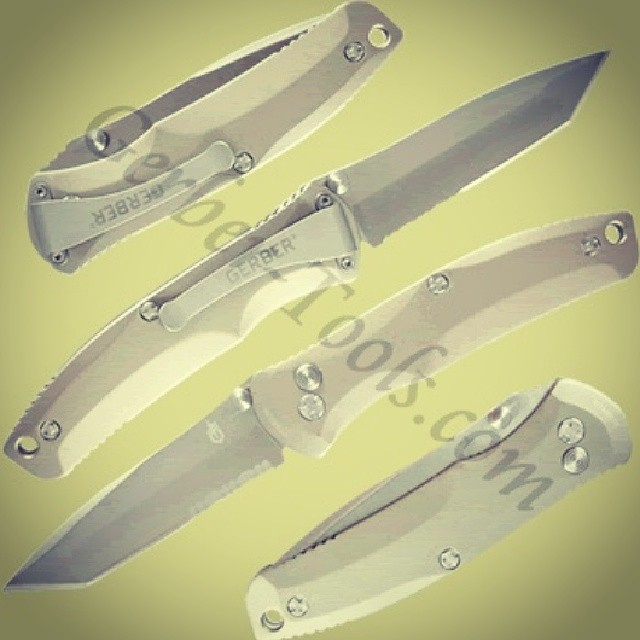 This is the Gerber Venture FAST Tanto Knife 30-000405! The Venture has Assisted Opening 2.0 for easy, one handed operation with dual thumbstuds. Blade is partially serrated with a tanto point for a wide range of applications. Polished titanium handle. On sale now at www.Gerber-Tools.com gerber gerbertools venture fast tanto knife folder edc titanium knifecommunity