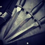 Today's pick.. seriously cool on these Gerber Mark II Double Serrated Knives 22-01874. Visit us at www.Gerber-Tools.com