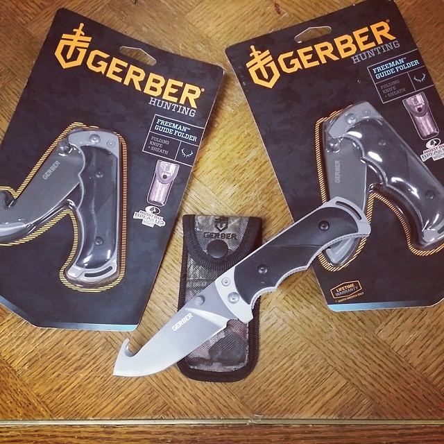 While supplies last we are letting these freeman folders go for $14.99. As you might notice these models are no longer produced by Gerber so once they are gone they are gone! GERBER-TOOLS.COM/FREEMAN  GerberFreemanGuide  FreemanGuide  GerberKnives  knives  KnifeCommunity hunting camping