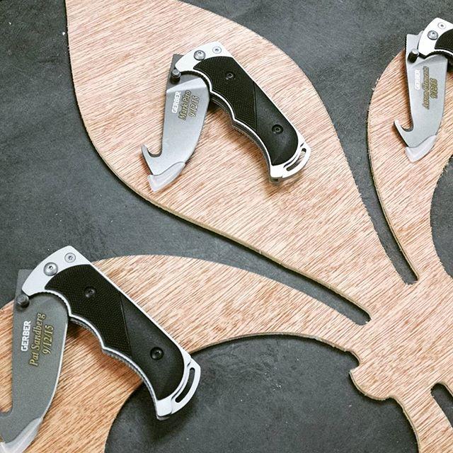 Making more happy groomsmen at Gerber-Tools.com today! GerberKnives GerberTools Gerber LaserEngraving Groomsmen GroomsmenGift GroomsmenGifts knives