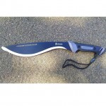 Gerber Gator Kukri Machete on sale! Model #: 31-002074 This multi-use machete is excellent for cutting outdoors and getting the job done! Easy to use and great with accuracy. Very sharp point. Nice grip. Also comes with a nylon sheath that zips up. Come purchase yours at www.gerber-tools.com