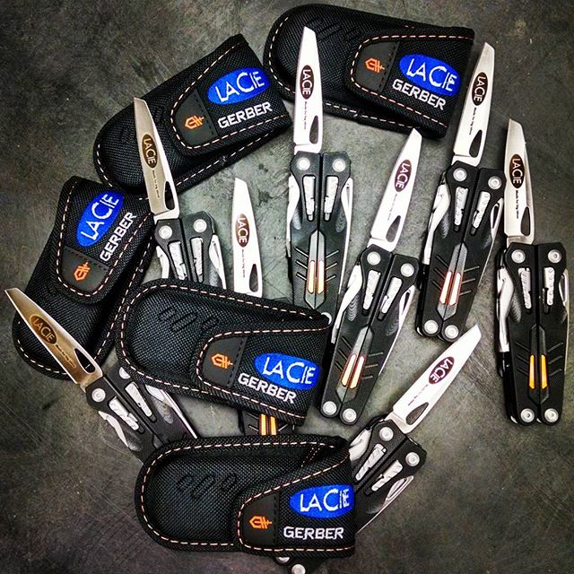 Rolling out 50 of these Gerber Tool Mutli-Pliers to the Lacie Company, for behind the scenes. gerber gerbertools g-10Composite multitool 31-001142
