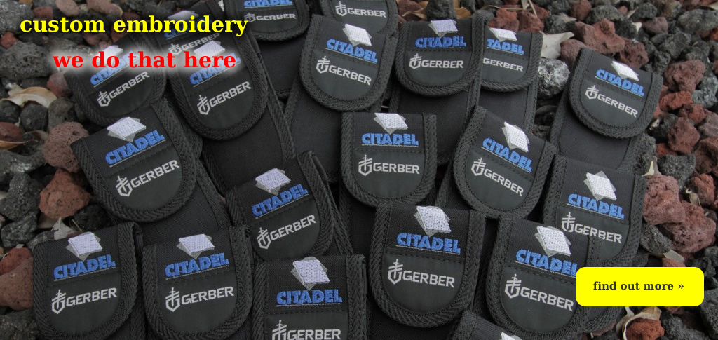 Gerber Tools custom Embroidery