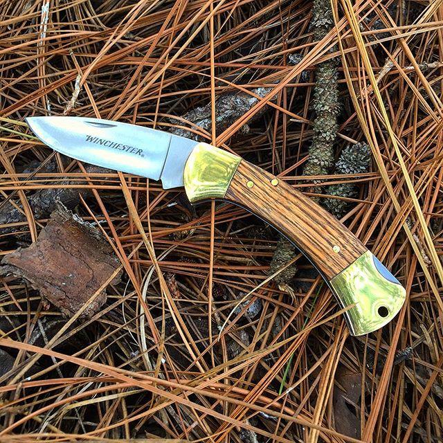Gerber Winchester zebra wood pocket knife 31-002655.  Gold bolsters, 2.75 inch blade, lanyard hole.