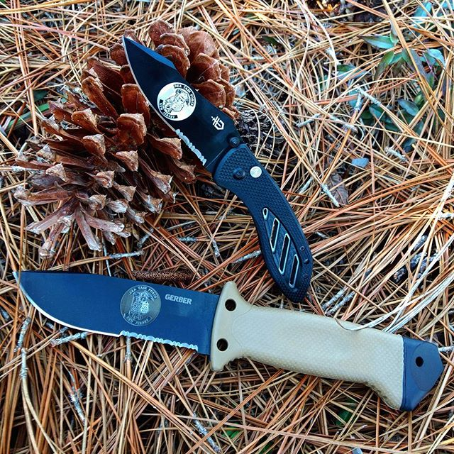 Customized logo on the Gerber LMF II Survival Knife 22-41400 and Gerber Instant AO knife 30-002184! #customized #logo #DEA #taskforce #22-41400 #30-002184