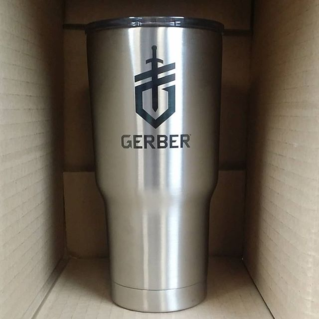 Gerber-tools.com Father's Day Sale.  From now through Father's Day 2018 all orders $25 and over will receive a free stainless steel tumbler with an engraved Gerber emblem. #gerber #gerberknives #laserengraving #gerbertools