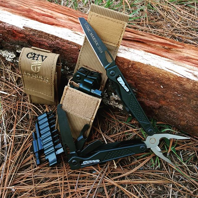 Gerber MP1-MRO Maintenance repair operations tool 31-001031.  Heavy duty tool is ready to work, comes with 12 piece bit set and tan MOLLE sheath.  Personalize each piece at www.gerber-tools.com.  #engravedtools #personalizedsheath #MP1-MRO #31-001031 #mollesheath