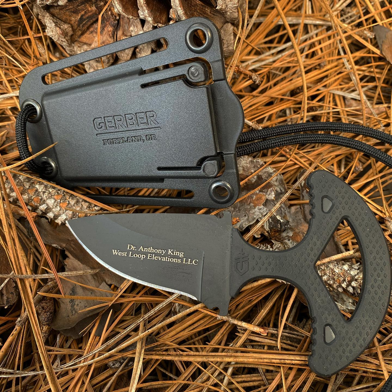 Gerber Ghostrike Punch 30-001007 Fixed Blade Neck Knife / Push Knife
