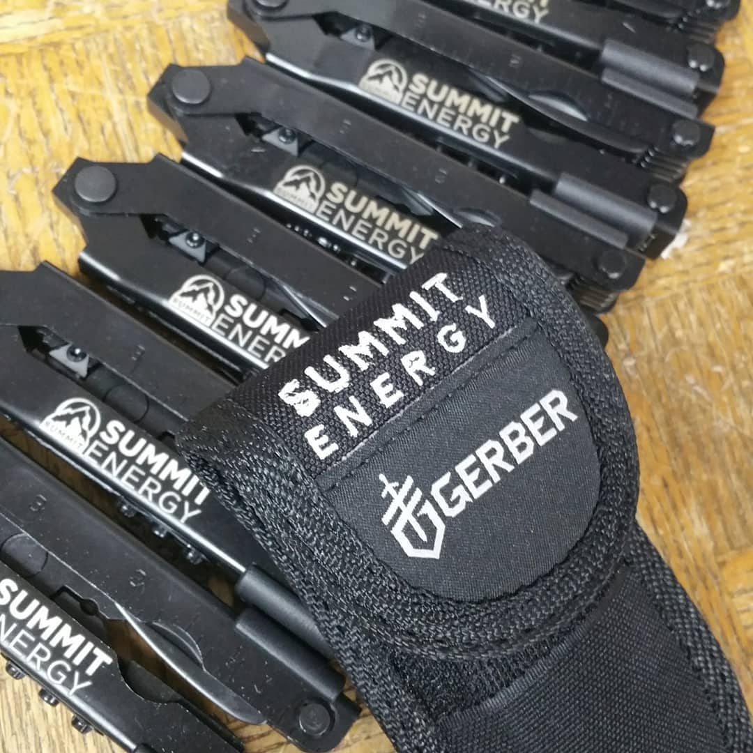 Embroidery and laser engraving on company gifts.  Gerber-Tools.com  #gerber #gerbertools #gerberknives #multitools #multitool #embroidery #laserengraving #companygift
