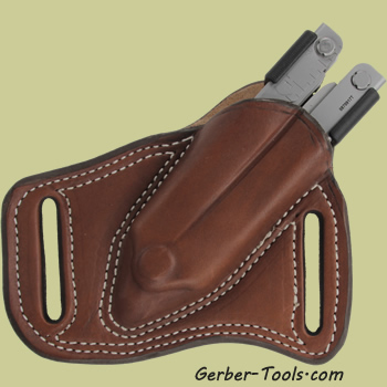 Brown Leather Sheath Pancake Holster for Gerber MP600 Multitool