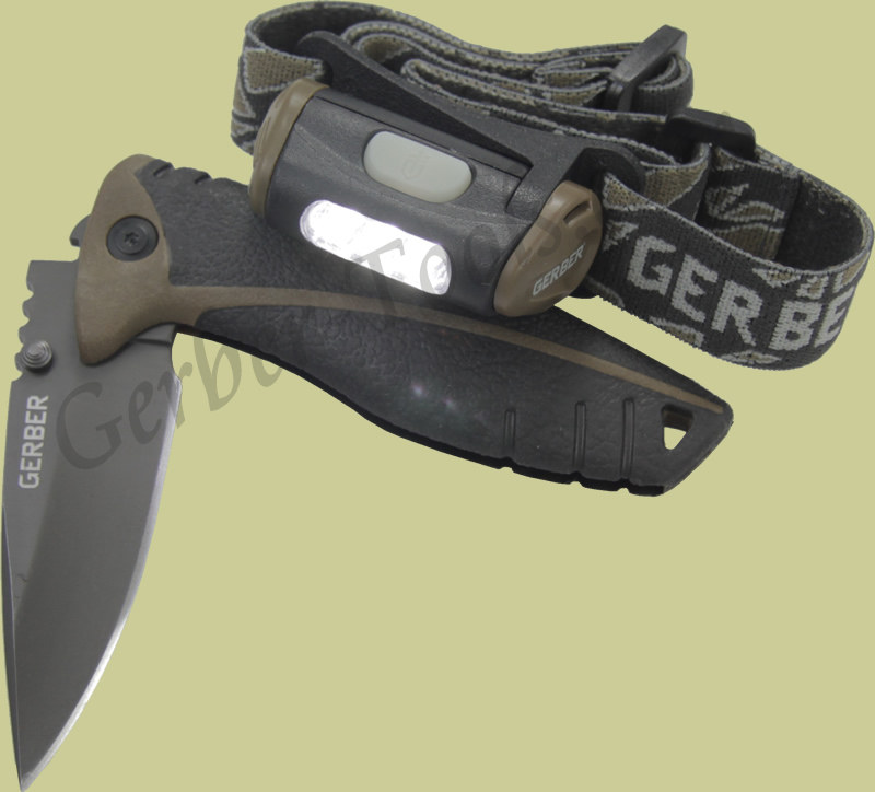 Gerber Myth Headlamp/Knife + Tumbler Combo